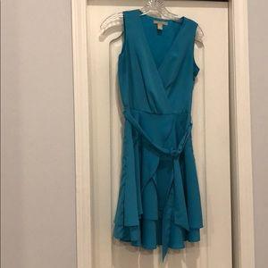 Blue Ruffled Banana Republic Dress